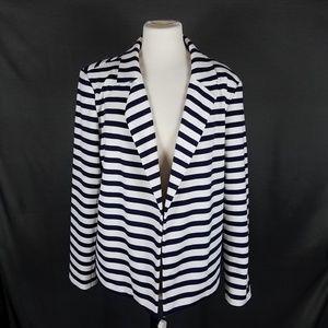 4/10- Chicos XL Navy Stripe Jacket sz 3